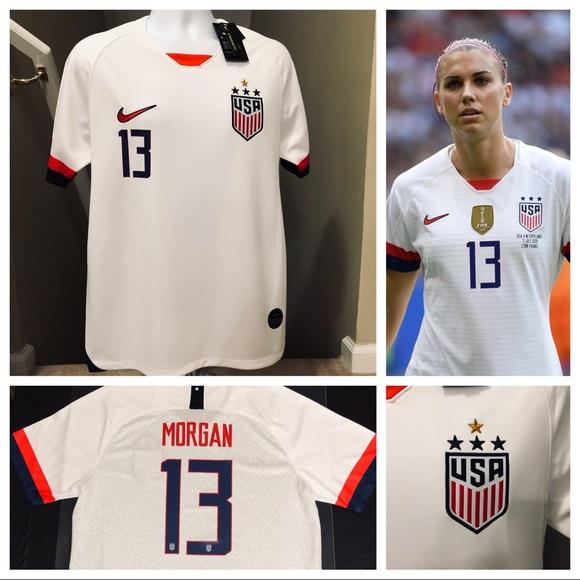 super popular 363d4 1dc2c Men's Alex Morgan #13 USA 4 Stars Soccer Jersey NWT